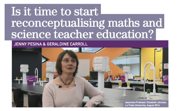 Is it time to start reconceptualising maths and science teacher education?